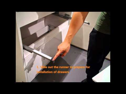 Removal and installation of vanity drawers