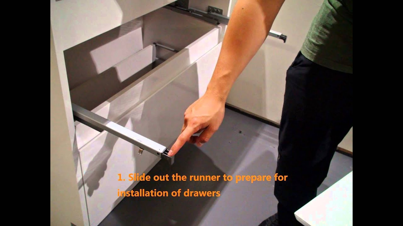 Removal and installation of vanity drawers - YouTube
