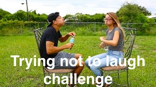 Video Trying not to laugh with a mouth full of water! {Challenge} download MP3, 3GP, MP4, WEBM, AVI, FLV Oktober 2018