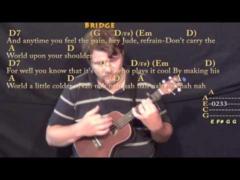 Hey Jude (The Beatles) Ukulele Cover Lesson With Chords/Lyrics