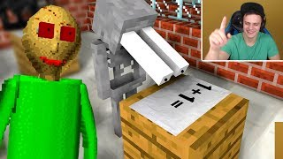 БАЗЯ СМОТРИТ - Monster School : BALDI'S BASICS BECOME TEACHER - Minecraft Animation