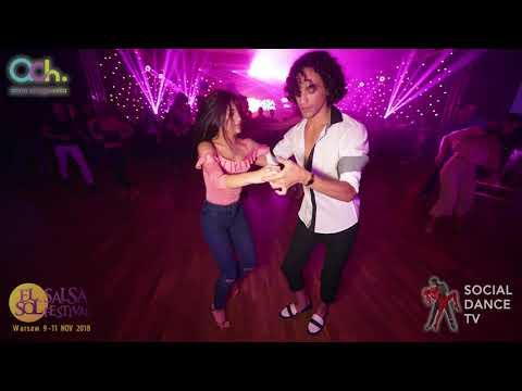 Eloy J Rojas & Araya Montemurro - Salsa social dancing   El Sol Warsaw Salsa Festival 2018