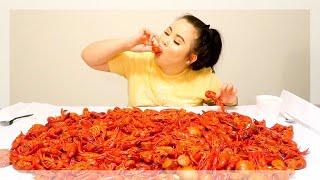 GIANT 10 POUND CRAWFISH SEAFOOD BOIL MUKBANG! 먹방 (EATING SHOW!)