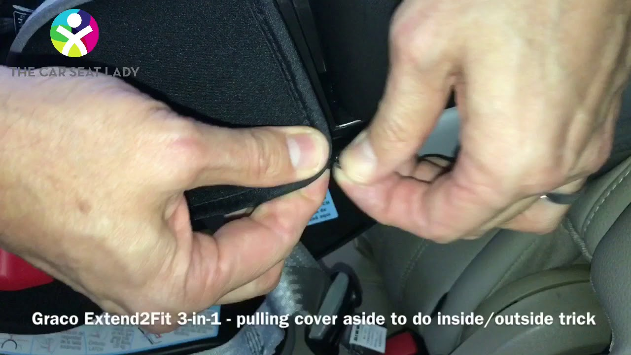 Graco Extend2Fit 3 In 1 Pulling Cover Aside For Inside Outside Trick The Car Seat Lady