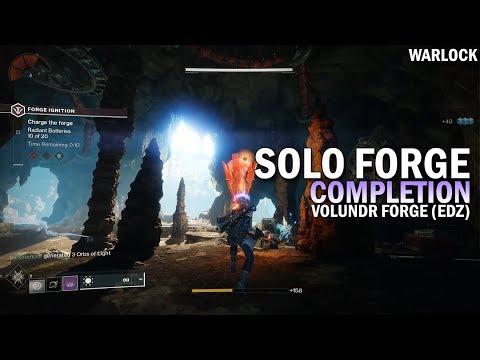 Solo Forge Completion (Volundr Forge / EDZ / Warlock) [Destiny 2 Black Armory]