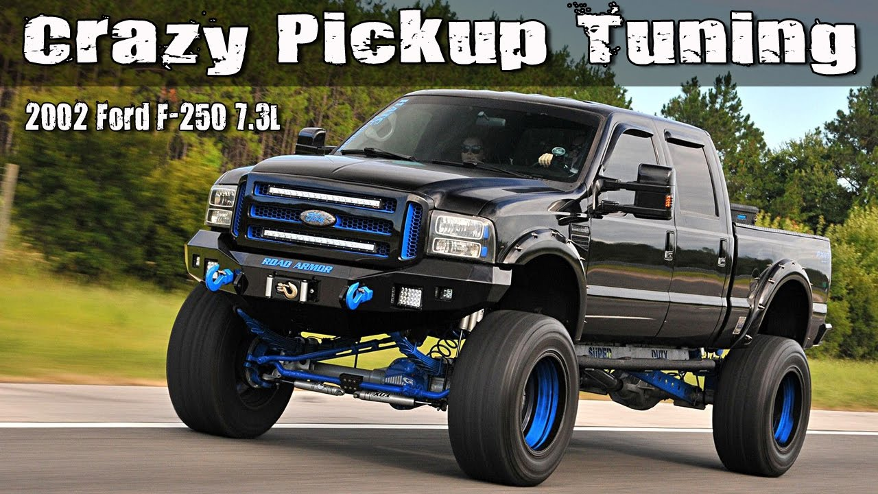 crazy pickup truck tuning 2002 ford f 250 7 3l youtube. Black Bedroom Furniture Sets. Home Design Ideas
