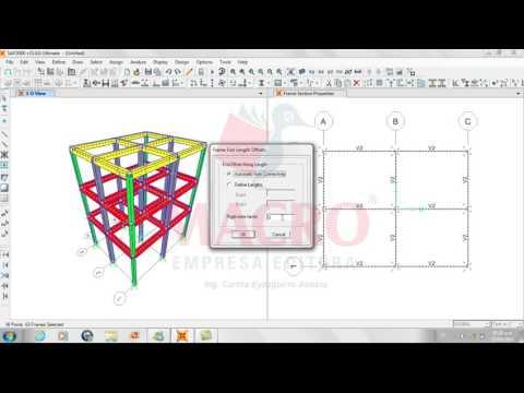 Análisis y diseño de estructuras con Sap 2000 V. 15 Video 2