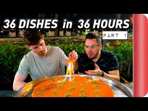 36 DISHES in 36 HOURS!! | Dubai Food Challenge (Part 1 of 2) #Ad