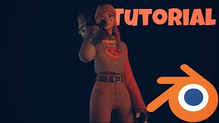 How to create a 3d Fortnite Animation with Blender! Blender Tutorial (Holding Animation, Light...)