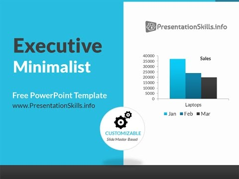 Executive minimalist blue powerpoint template youtube for Minimalist powerpoint template free