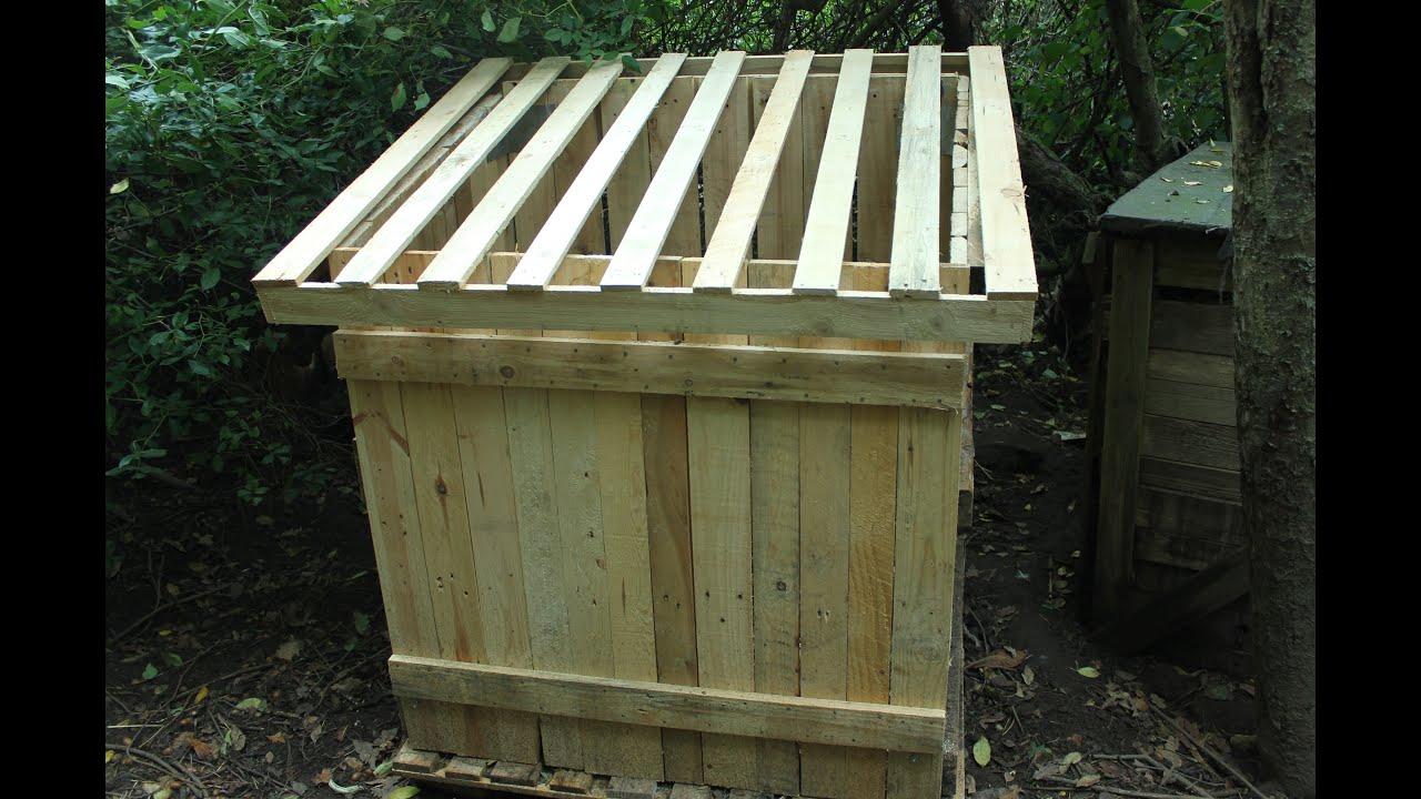Composteur Bois Non Traite : . Compostador palets. Brico composteur by Organikmechanic 2016-05-16