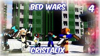 Minecraft Bed Wars #4|ОВЦА-КАМИКАДЗЕ!(Cristalix)