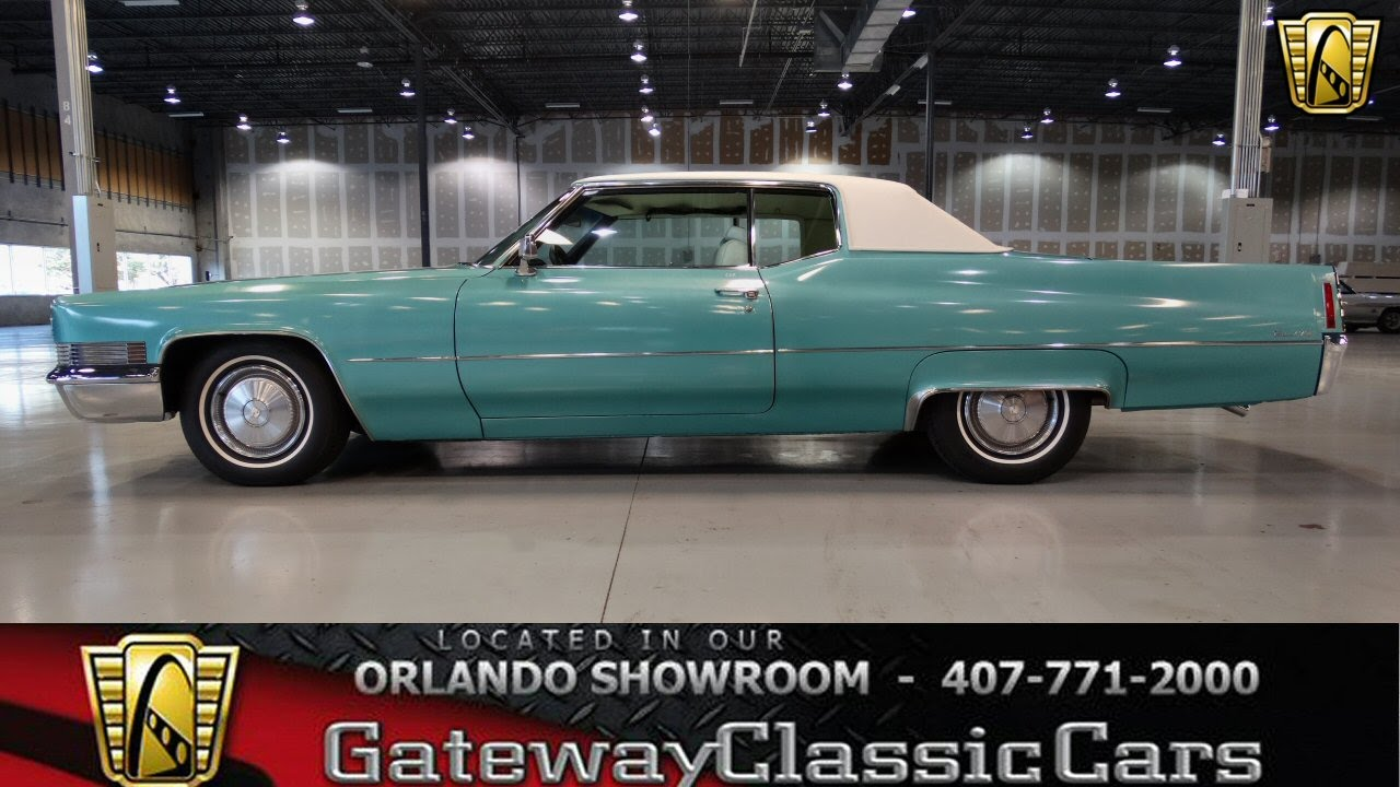 Cadillac Convertible 2015 >> 1970 Cadillac Coupe Deville Gateway Classic Cars Orlando #110 - YouTube