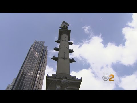 Rally Held To Keep Christopher Columbus Statue In Columbus Circle