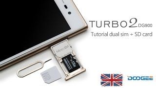 Tutorial dual sim + sd card DOOGEE DG900