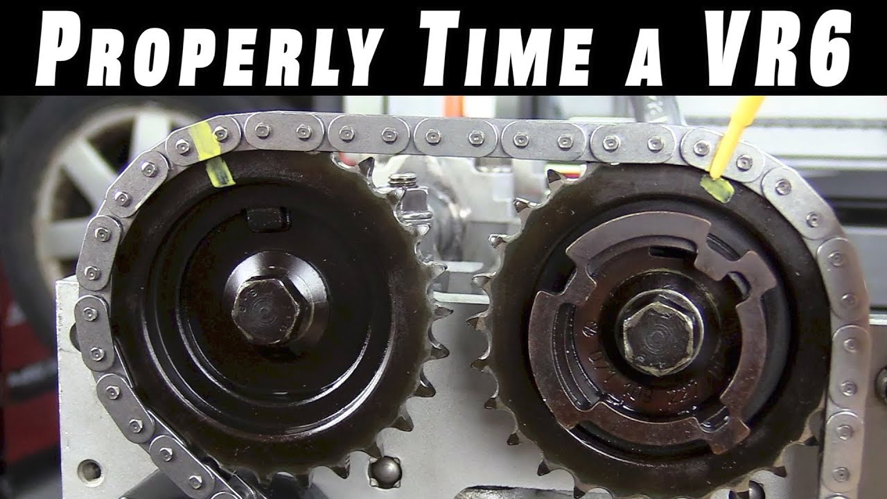 how to properly time and install timing chains on a vr6 youtube rh youtube com vr6 cam timing marks VR6 Engine Block