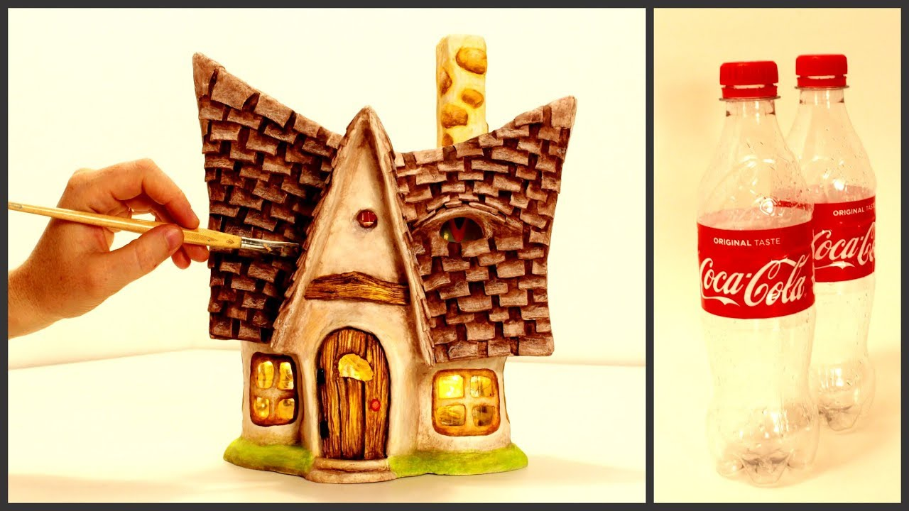 Diy Little Fairy House Lamp Using Coke Plastic Bottles