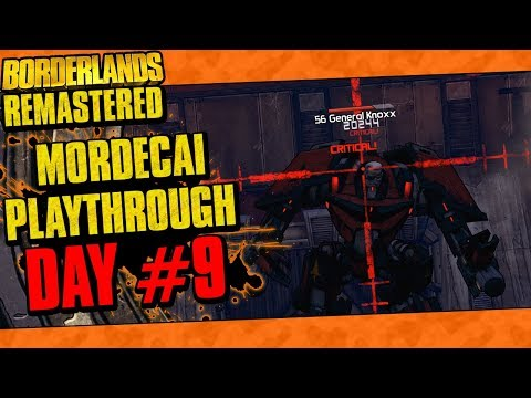 Borderlands Remastered | Mordecai Playthrough Funny Moments And Drops | Day #9