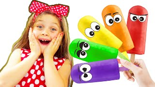 Pretend play learn colors making colorful ice creams | Chiki - Piki