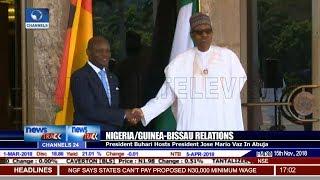 President Buhari Hosts President Jose Mario Vaz In Abuja