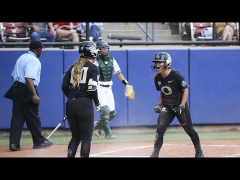 Women's College World Series Highlights: Oregon softball scores early and often to eliminate Baylor