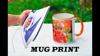 How To Print Your Favourite Photo On Mug At Home   Using Electric Iron