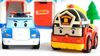 Мультфильмы про машинки - игрушечные машинки Робокар Поли(Игрушечные машинки: Робокар Поли - полицейская машина, Эмбер - машина скорой помощи, Рой - пожарная машина...., 2014-08-15T08:25:33.000Z)