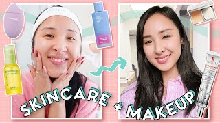 Simple Daytime Skincare + Makeup Routine for Clear & Glowing Skin