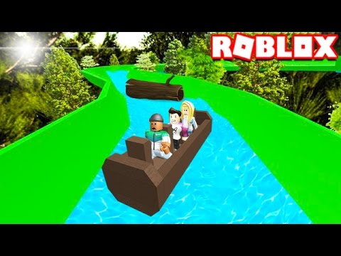 CAN YOU SURVIVE THE LOG WATER RIDE IN ROBLOX!?