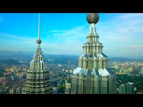"Drone ""DANCING"" with Petronas Towers in Kuala Lumpur"