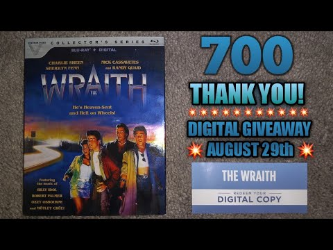 Download The Wraith Blu-ray from Vestron Video + Digital Giveaway + Thank You for 700!