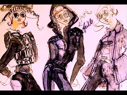 Fashion Design Sketches From Back In My Parsons Fashion School Days Youtube