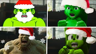 Sonic The Hedgehog Movie - Christmas Hulk Superheroes Uh Meow All Designs Compilation