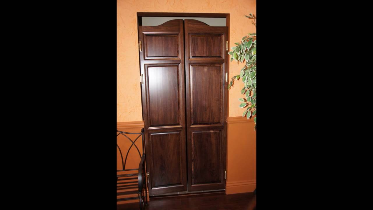 commercial kitchen swinging doors - YouTube