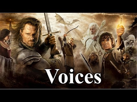 LOTR Voices: Gandalf, Frodo Baggins, Legolas, Gollum, etc.