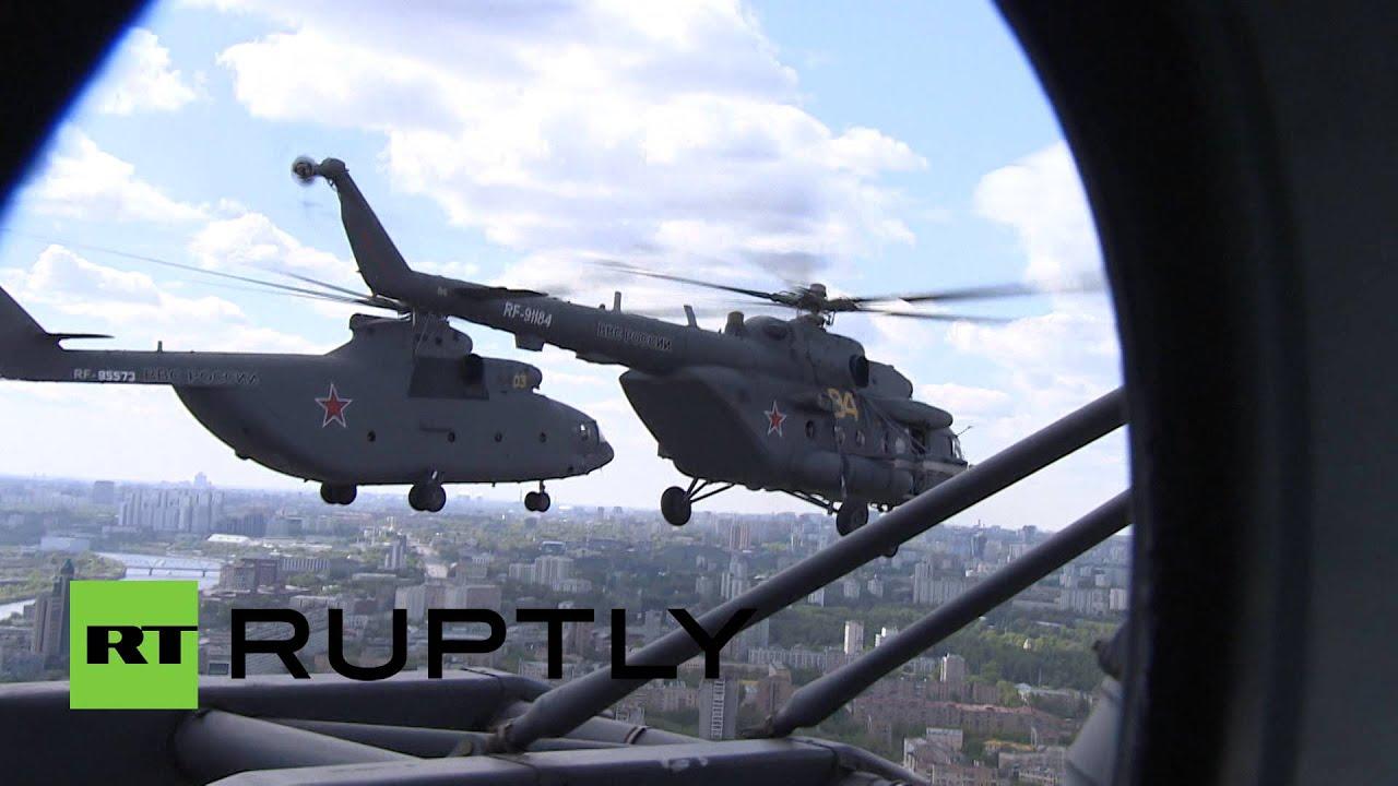 Репетиция парада: в небо над Москвой взмыли боевые ...
