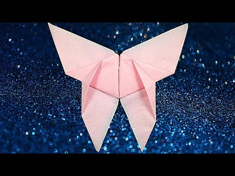 Christmas diy crafts table napkin folding steps - origami butterfly easy. Thanksgiving decor diy
