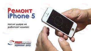 Ta'mirlash iPhone 5 (kompas devor urish so'ng ishlamaydi)