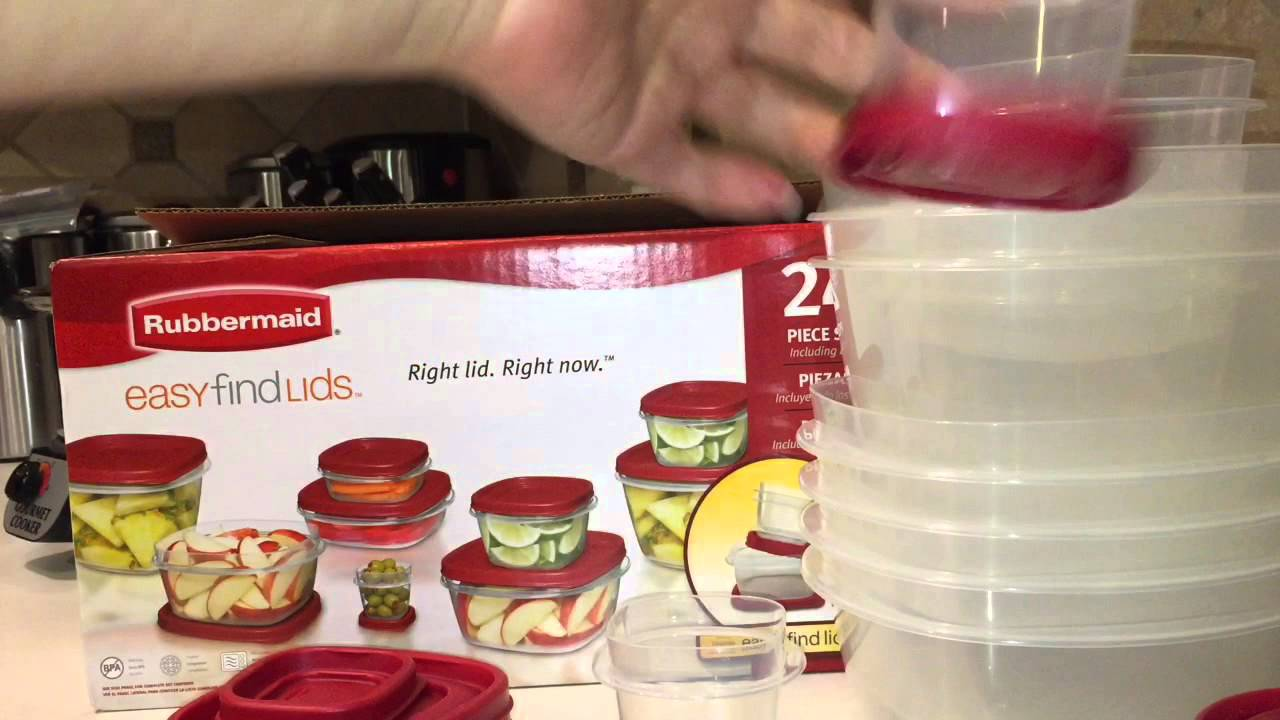new rubbermaid 50 piece easy find lids