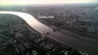 Aerial tour of Surat city