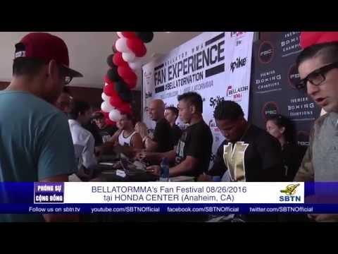 PHÓNG SỰ CỘNG ĐỒNG: Gặp gỡ võ sĩ Lê Cung tại Fan Festival của BellatorMMA