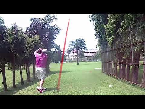 9th Hole ZZ Tee Shot Asia Pattaya Golf Course Thailand