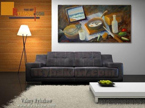 "New Oil painting: ""Breakfast loser"" by artist Valery Rybakow"