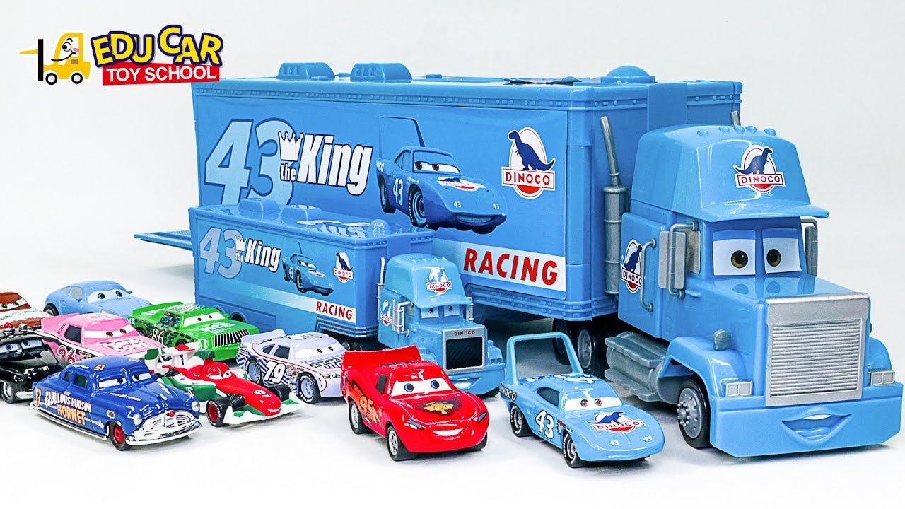 Learning Special Disney Lightning Mcqueen Blue Truck Color Names And Sounds For Kids Car Toys