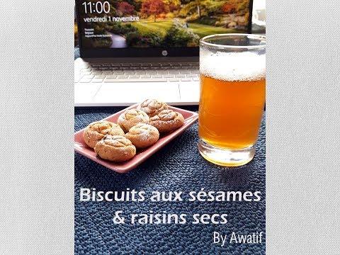 biscuits-aux-sésames-&-raisins-secs