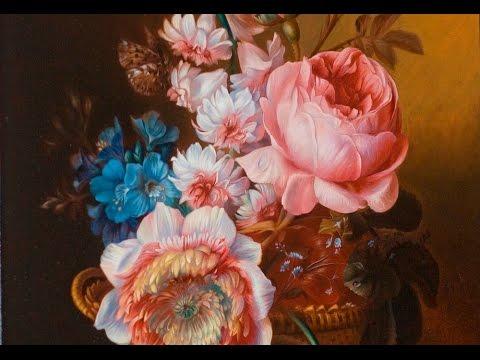 Уроки живописи. Натюрморт с цветами. Часть 1. Still life with flowers