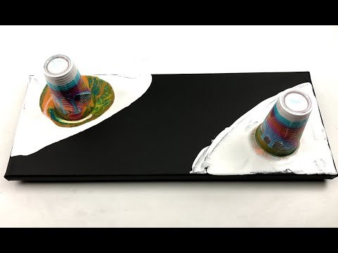 Double flip cup pouring on black negative field - with drying method