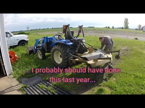 Maintenance on the 72 inch King Kutter Finish Mower (10x speed)