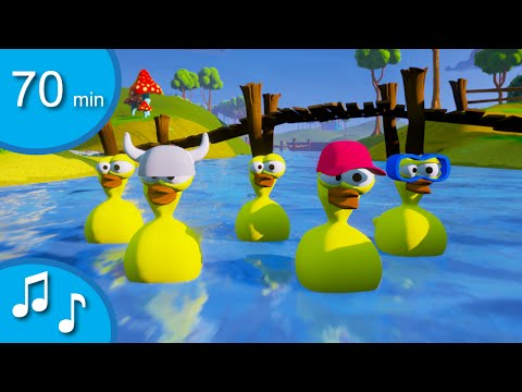 5 little ducks | 70 min songs for toddlers from tinyschool