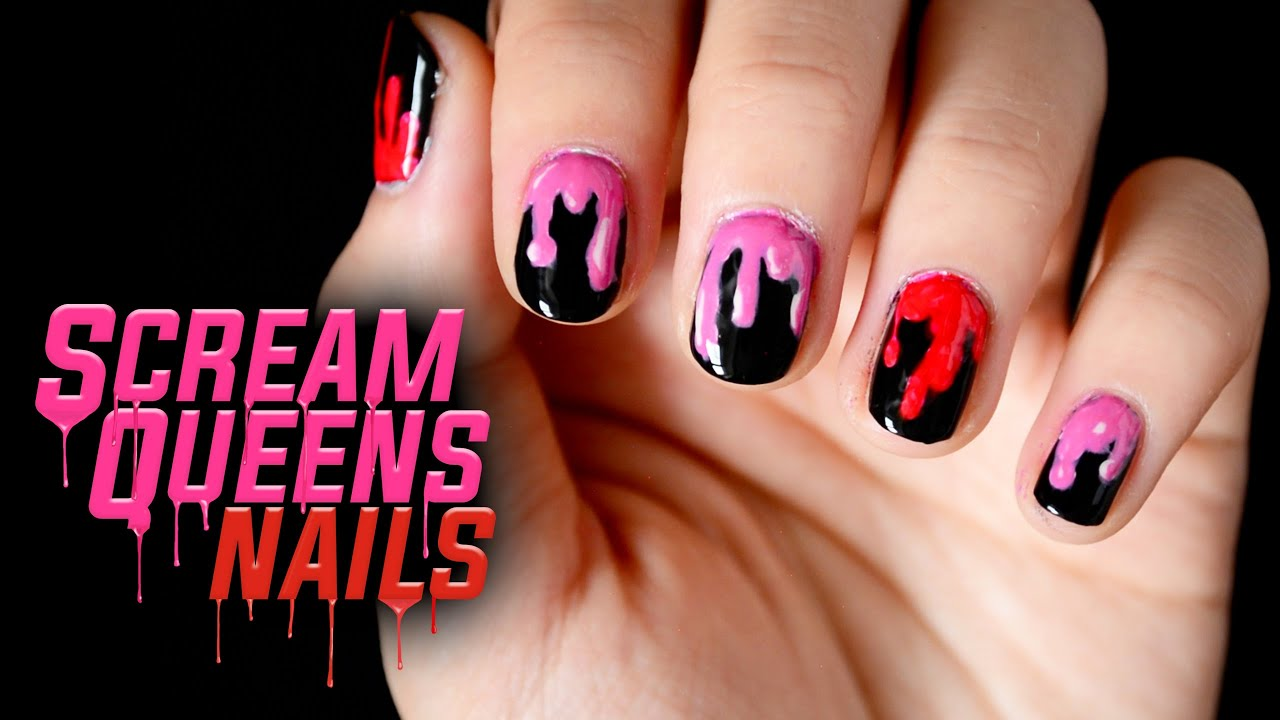 scream queens nail art halloween
